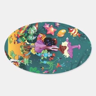 Fanciful Fairytale Oval Sticker