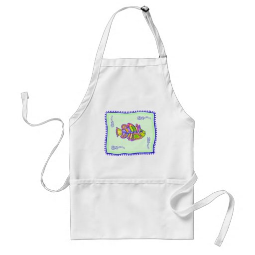 Fanciful Fish Quilt Adult Apron