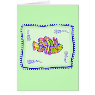 Fanciful Fish Quilt Card
