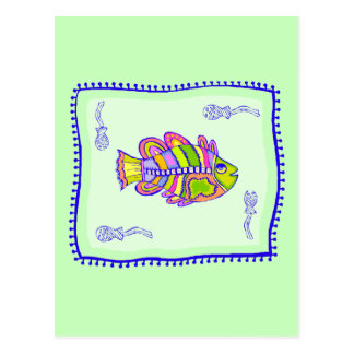 Fanciful Fish Quilt Postcard
