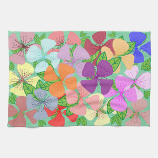 Fanciful Floral Hand Towels
