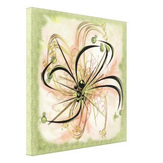 Fanciful Flower Stretched Canvas Prints