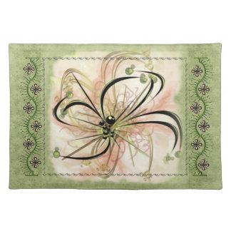 Fanciful Flower (Cloth Placemat) Cloth Place Mat
