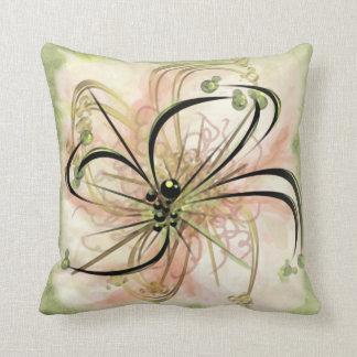 Fanciful Flower Throw Pillow