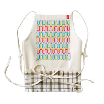Fanciful Greek Arcade Pattern Zazzle HEART Apron