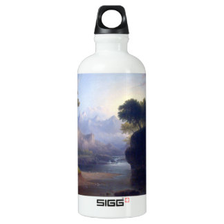 Fanciful Landscape by Thomas Doughty Aluminum Water Bottle