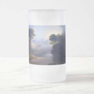 Fanciful Landscape by  Thomas Doughty Frosted Glass Beer Mug