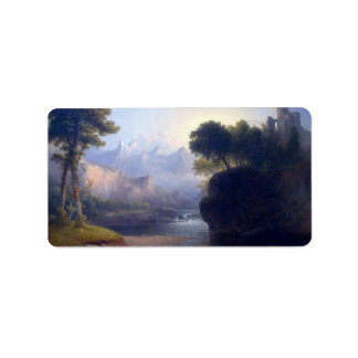 Fanciful Landscape by Thomas Doughty Label