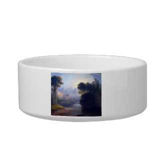 Fanciful Landscape by Thomas Doughty Cat Food Bowls