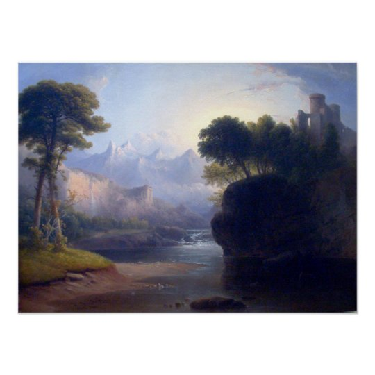 Fanciful Landscape by Thomas Doughty Poster