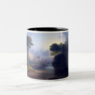 Fanciful Landscape by  Thomas Doughty Two-Tone Coffee Mug