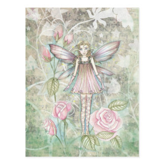 Fanciful Rose Fairy Postcard