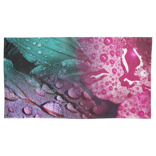 Fanciful Wet Leaves Pillow Case