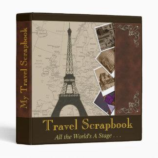 Fancy 1 Inch Binder Travel Scrapbook Organizer