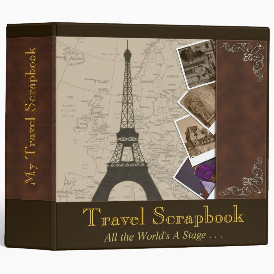 Fancy 2 Inch Binder Travel Scrapbook Organizer Zazzle