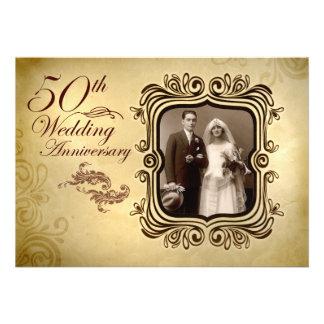 fancy 50th wedding anniversary invitations
