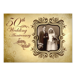 fancy 50th wedding anniversary invitations