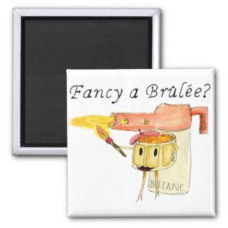 Fancy a Brûlée? Funny novelty art fridge magnet