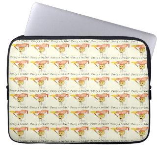 Fancy a Brûlée? Funny novelty foodie laptop case