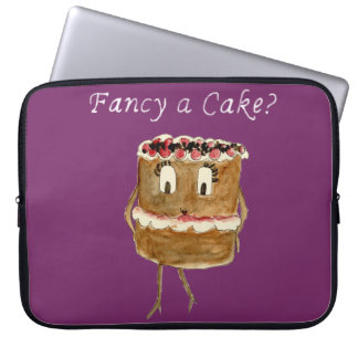 Fancy a cake? funny black forest gateaux sleeve