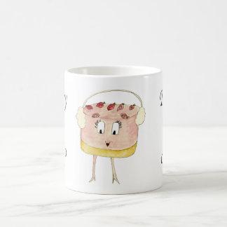 Fancy a Cake Funny Strawberry Cheesecake Quote Art Coffee Mug