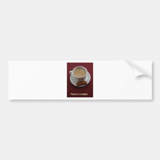 Fancy a cuppa bumper sticker