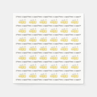 Fancy a cuppa? Funny foodie police napkins Disposable Napkin