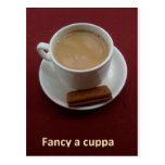 Fancy a cuppa postcard