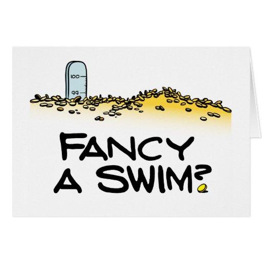 Fancy a Swim? Greeting Card