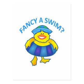 FANCY A SWIM POSTCARD