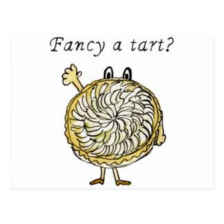Fancy a tart? Funny foodie tarte tatin postcard
