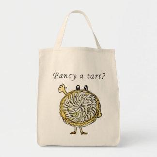 Fancy a tart? humorous tarte tartin tote bag