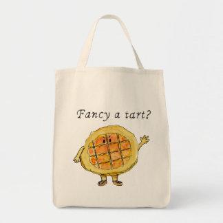 Fancy a tart? humorous treacle tart tote bag