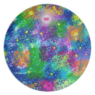 Fancy abstract art plate