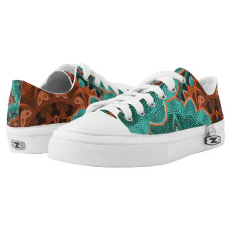 Fancy Abstract Floral Design Printed Shoes