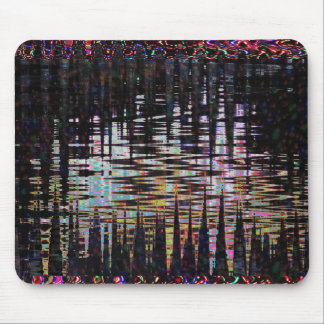 Fancy Abstract Wave Print Template  add text image Mouse Pad