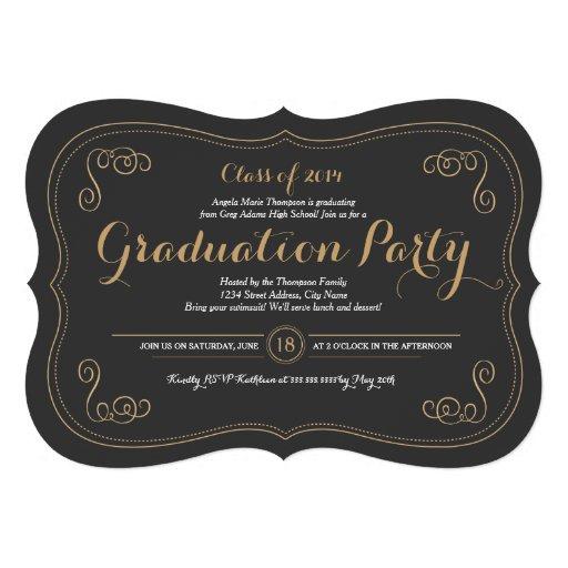 Fancy Affair Grad Party Invitation