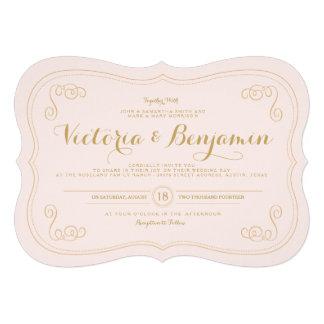 Fancy Affair Wedding Invitation - Blush Gold
