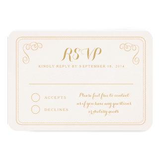 Fancy Affair Wedding RSVP Card - Blush & Gold Invite