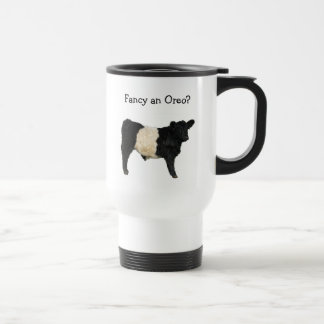Fancy an Oreo? Belted Galloway Cow 15 Oz Stainless Steel Travel Mug