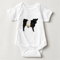 Fancy an Oreo? Belted Galloway Cow Baby Bodysuit