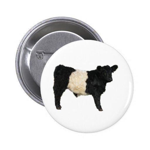 Fancy an Oreo? Belted Galloway Cow Pinback Button