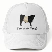 Fancy an Oreo? Belted Galloway Cow Trucker Hat