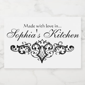 Fancy and Elegant Personalized Name Food Label