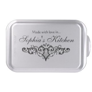 Fancy and Elegant Personalized Name Cake Pan