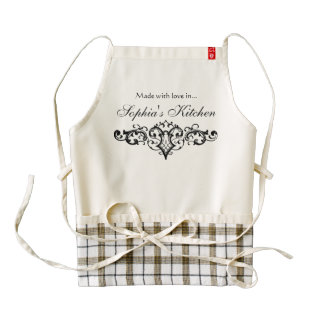 Fancy and Elegant Personalized Name Zazzle HEART Apron