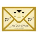 Fancy and Fun 70th Birthday Party Invitation