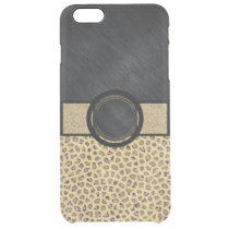 Fancy Animal Print Monogram Clear iPhone 6 Plus Case