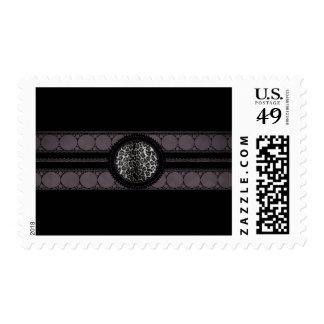Fancy Animal Print Monogram Stamp