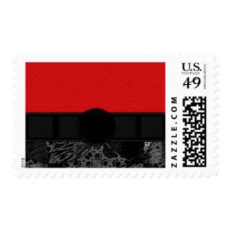 Fancy Animal Print Monogram Stamps